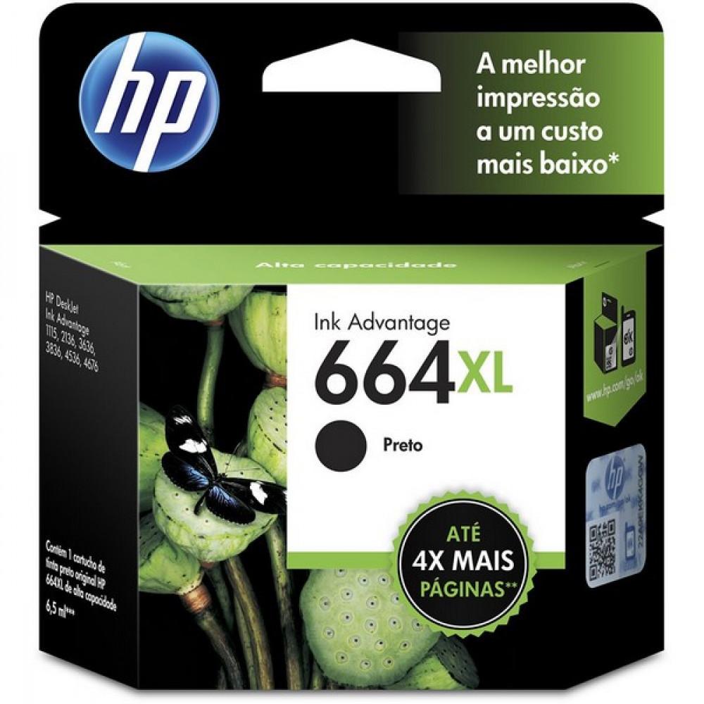 CARTUCHO HP 664XL F6V31AB PRETO