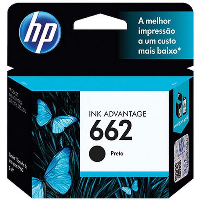 CARTUCHO HP 662 PRETO P.N.: CZ103AB