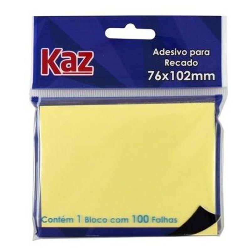 ADESIVO P/RECADO 76X102 AM C/100FLS KZ2002A
