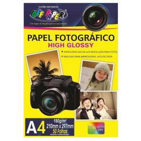 PAPEL FOTOGRAFICO A4 180G BRILH FL 00059 (PT C/50 FL)