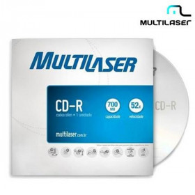 CD-R MULTILASER 52X ENVELOPE CD006