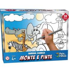 MONTE E PINTE SAFARI 24PCS 0996.1